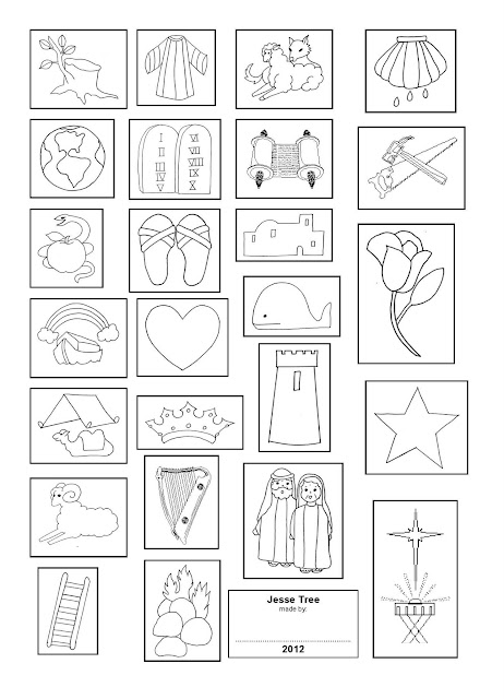 jesse tree symbols coloring pages - photo#14