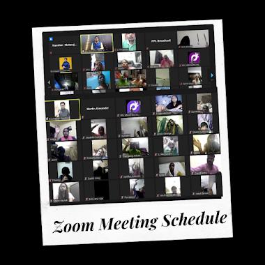 Zoom Meeting Schedule
