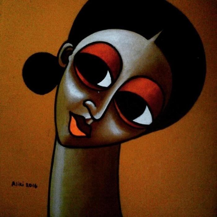 Нигерийский фигуративный художник. Tolu Aliki