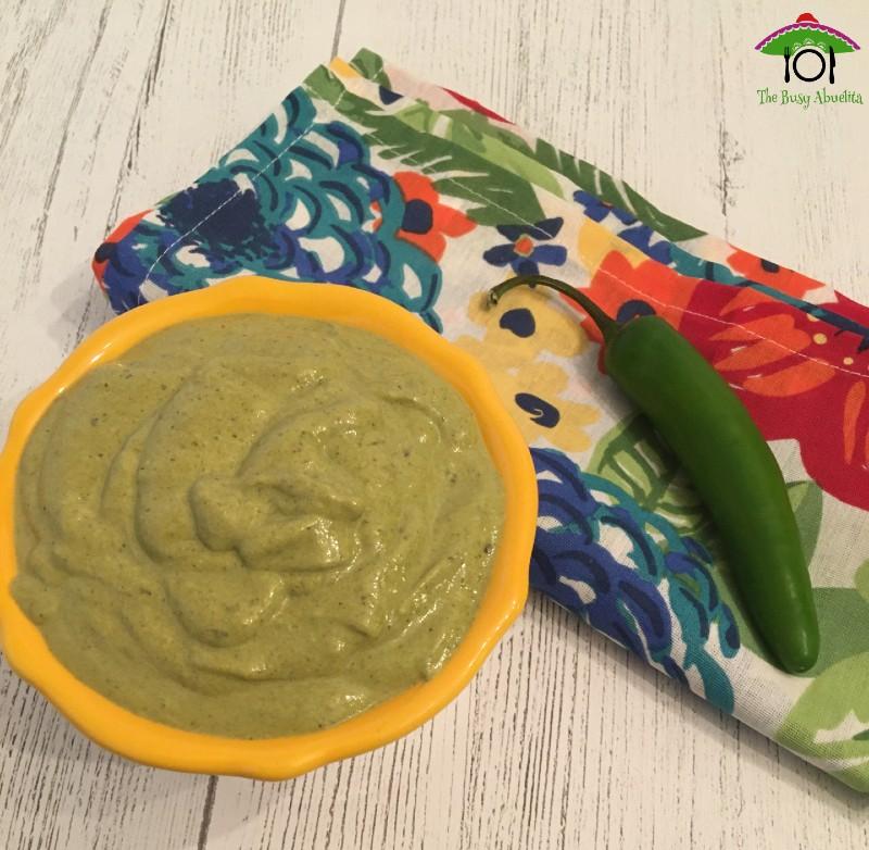 Spicy Poblano Cream Sauce