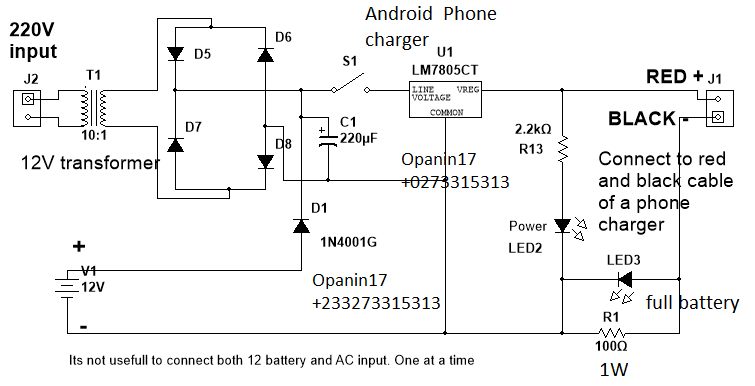 How to charge phone using 12V battery | Many circuits