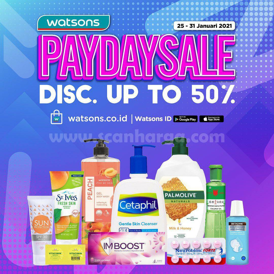 WATSONS Promo PATDAY SALE! Discount up to 50%