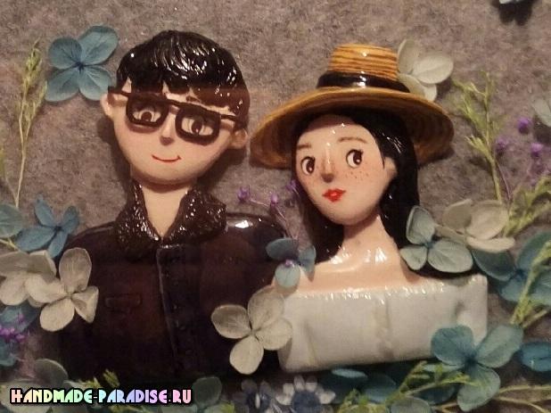 Лепка кукол для создания семейного портрета (6)