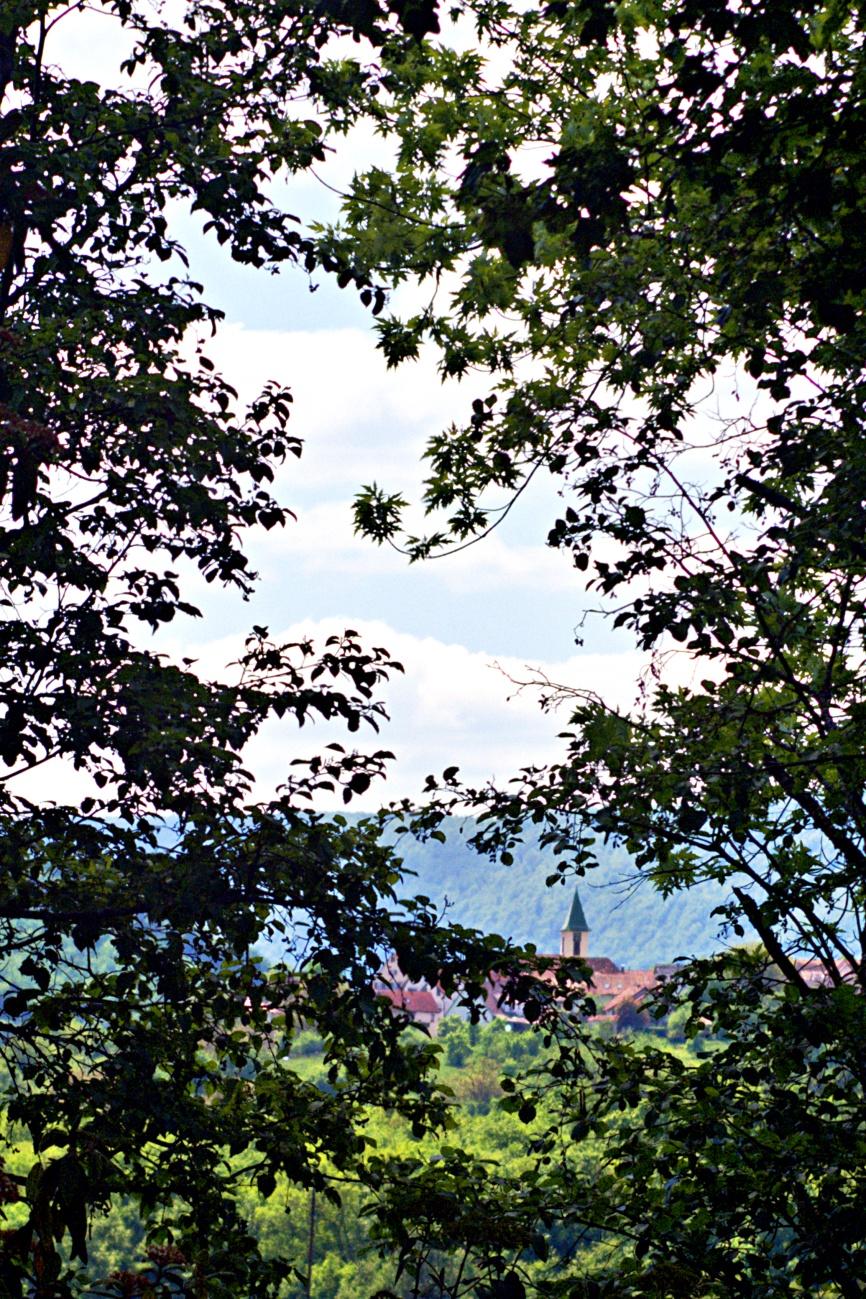 Zum Tagesabschluss — Zwei Kirchtürme