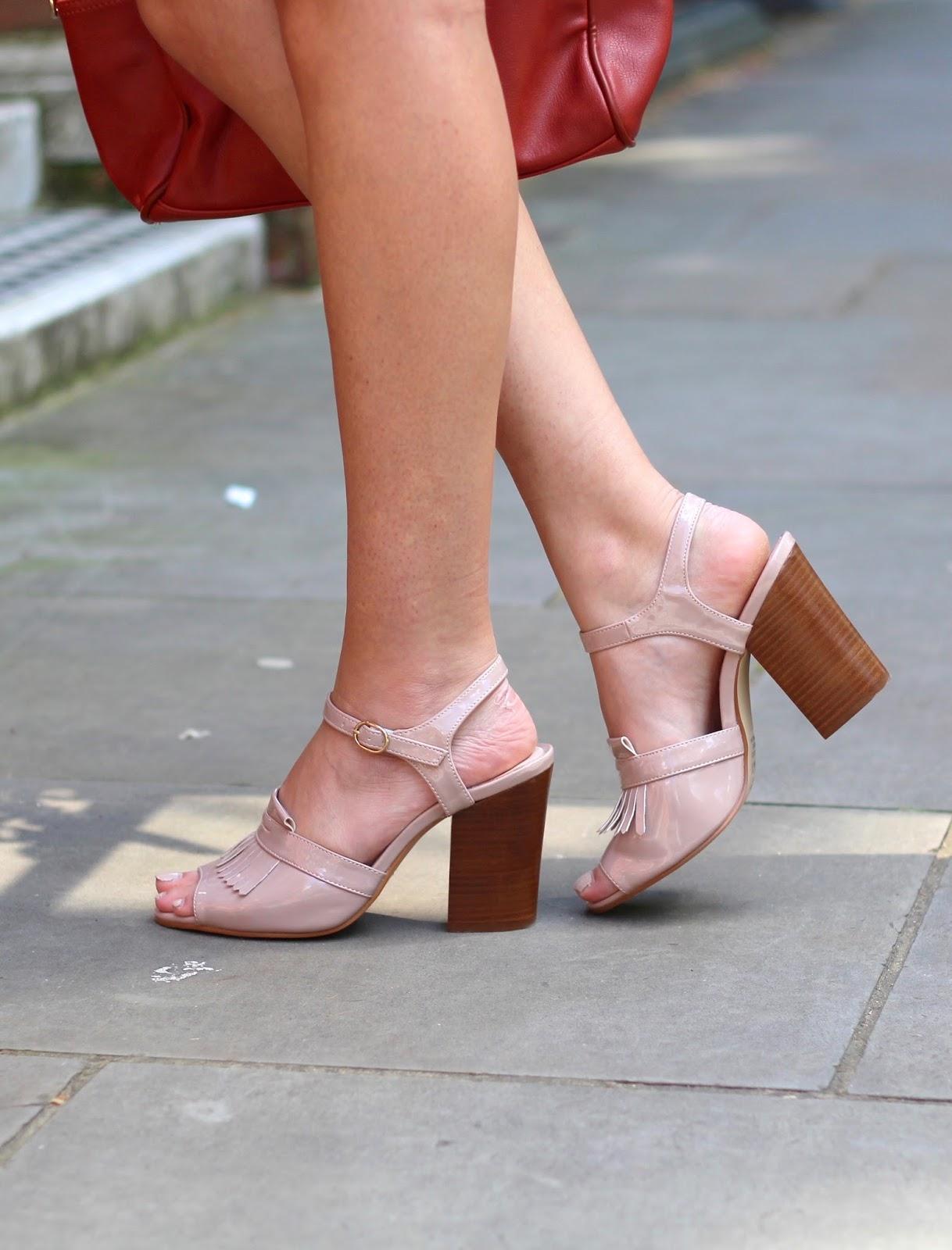 pink fringe heels