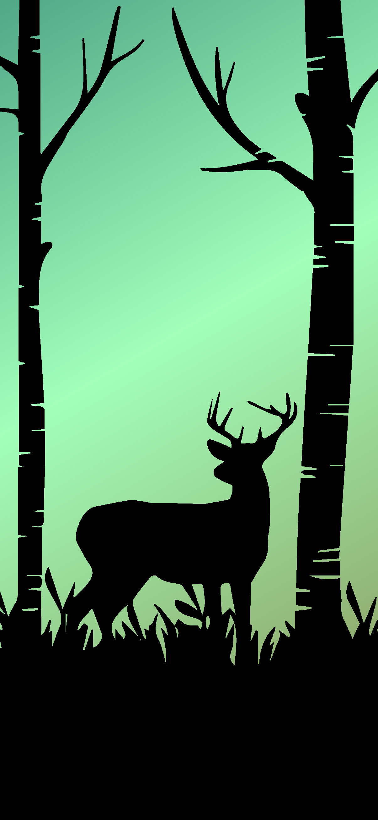 AMOLED WALLPAPER IPHONE HD - DEER IN FOREST