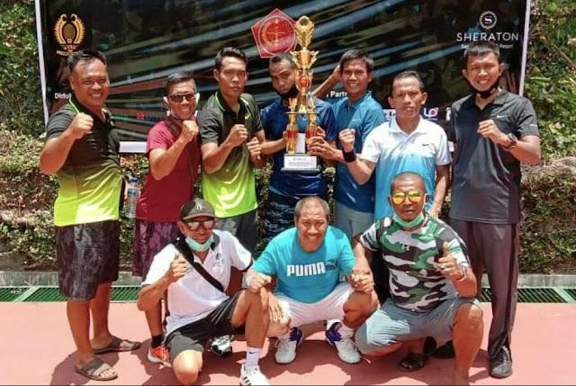 Atlit tenis Kodim Lotim raih juara II turnamen Sheraton Charity Cup 2020
