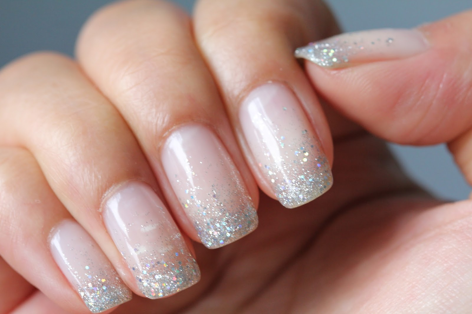 dsk steph cindy 39 s nails glitter waterfall shellac nails. Black Bedroom Furniture Sets. Home Design Ideas