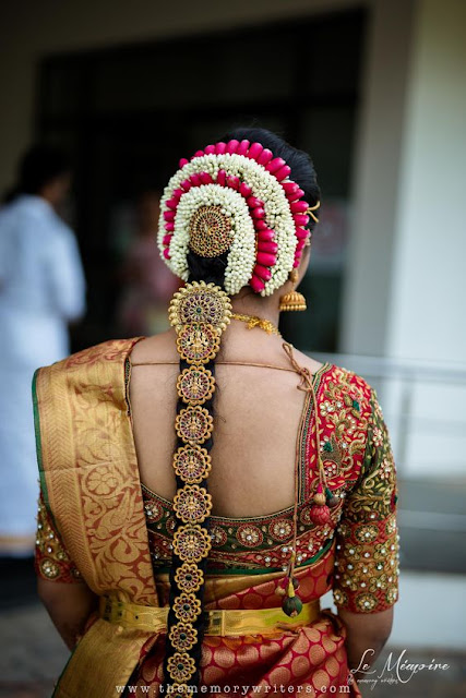 Best Hairstyles Tamil Wedding, hairstyle jadai, veni