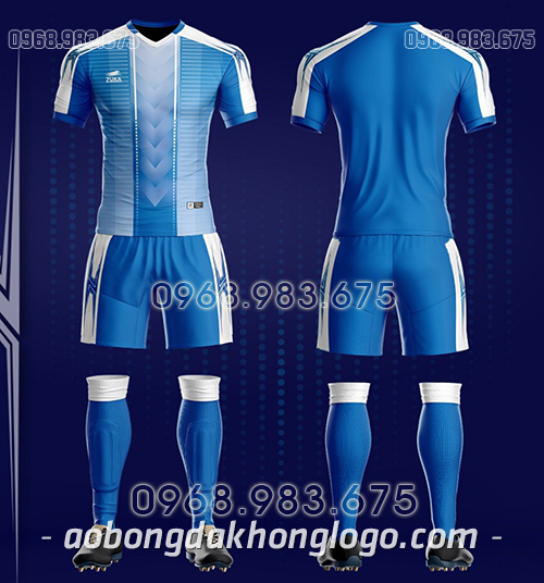 Áo bóng đá ko logo Zuka TV màu xanh dương