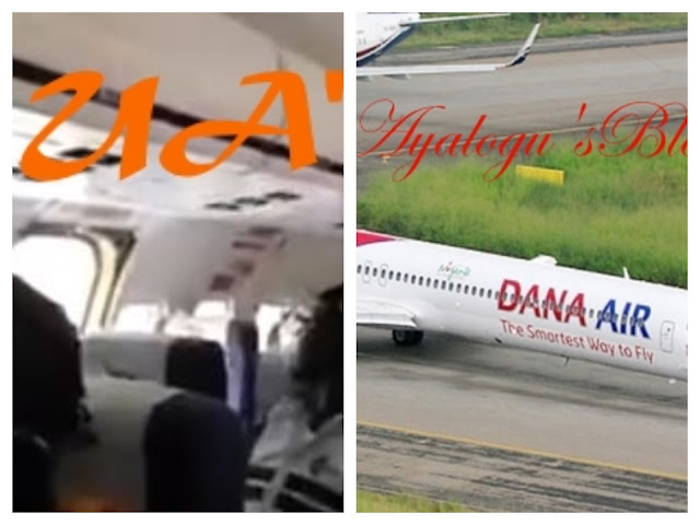 WATCH Viral Video Shows Terrified Passengers Inside Dana Air Airplane After Its Door Fell Off On Landing