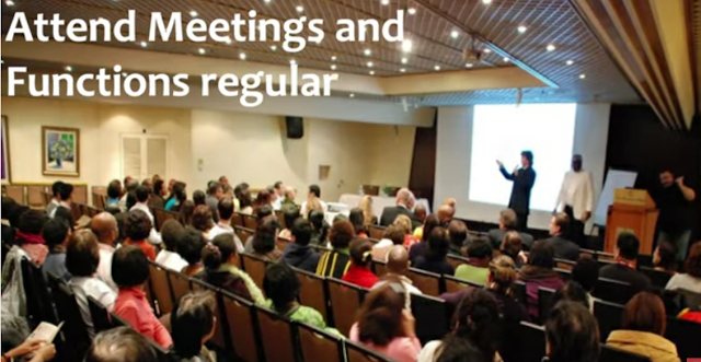 Attend meeting and functions of your MLM company