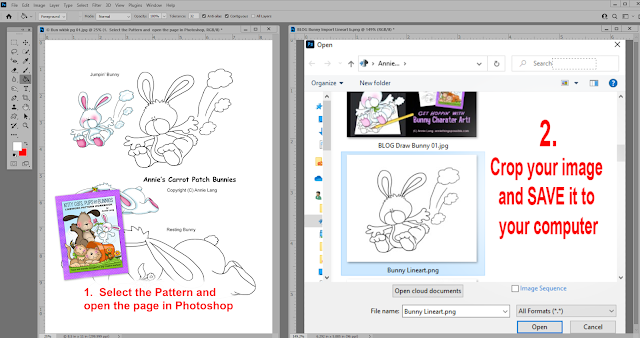 Learn how to use Annie Lang's line art character patterns in Photoshop