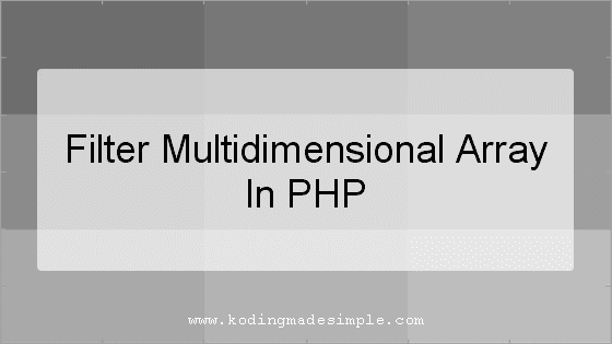 php filter multidimensional array by key value