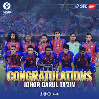 JDT Juara Liga Super 2018/2019