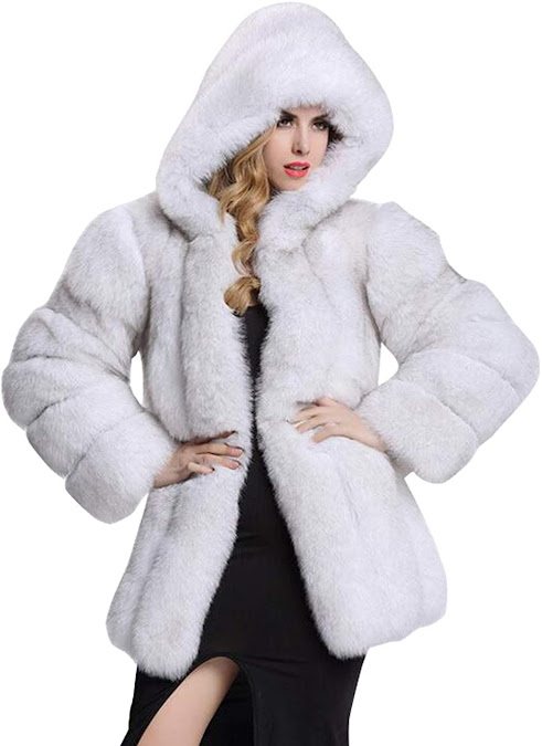 Quality White Faux Fur Coats Jackets for Women