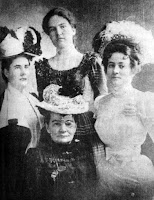 Lena Schreiner with her daughters Frances, Caroline, and Emilee
