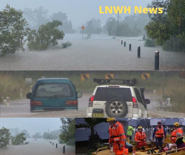 Heavy rains lashed Australia's east coast on Saturday create floods in australia