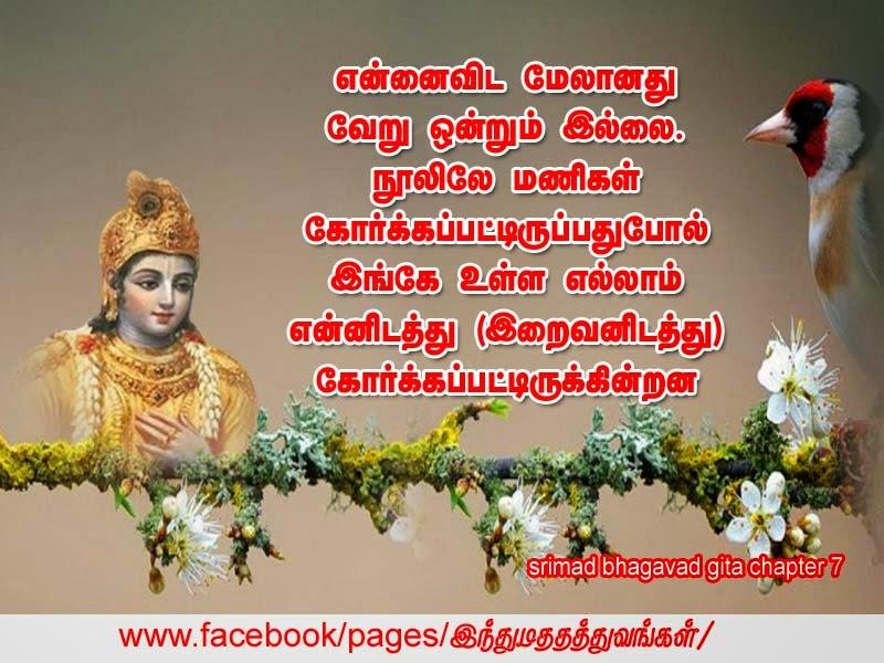 Krishna Quotes Bhagavad Gita Tamil