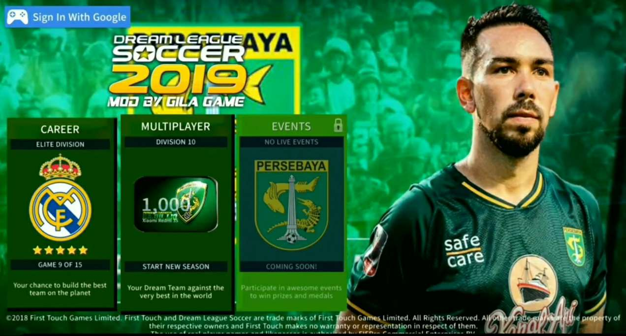 Dream League Soccer Mod Persebaya Shopee Liga 1 Indonesia Terbaru 2019