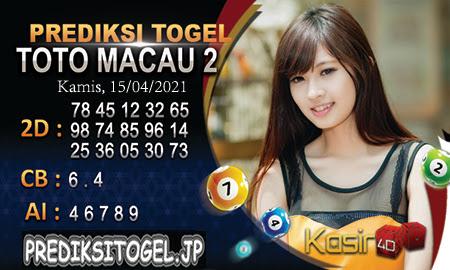 Prediksi Kasir4D Togel Macau Kamis 15 April 2021