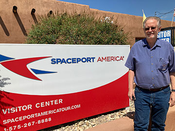Resident Astronomers at Spaceport Visitor Center in Truth of Consequences (Source: Palmia Observatory)
