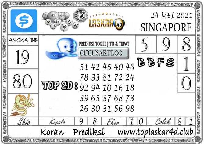 Prediksi Togel SINGAPORE POOLS LASKAR4D 24 MEI 2021