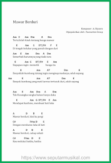 chord lagu mawar berduri favourites group