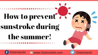 How to prevent sunstroke during the summer