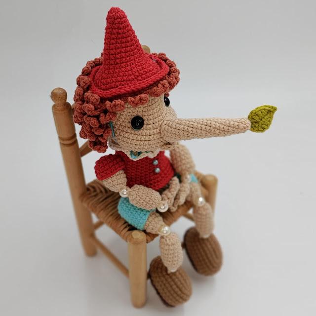 Receita Pinocchio Clássico Amigurumi por Elá Camarena
