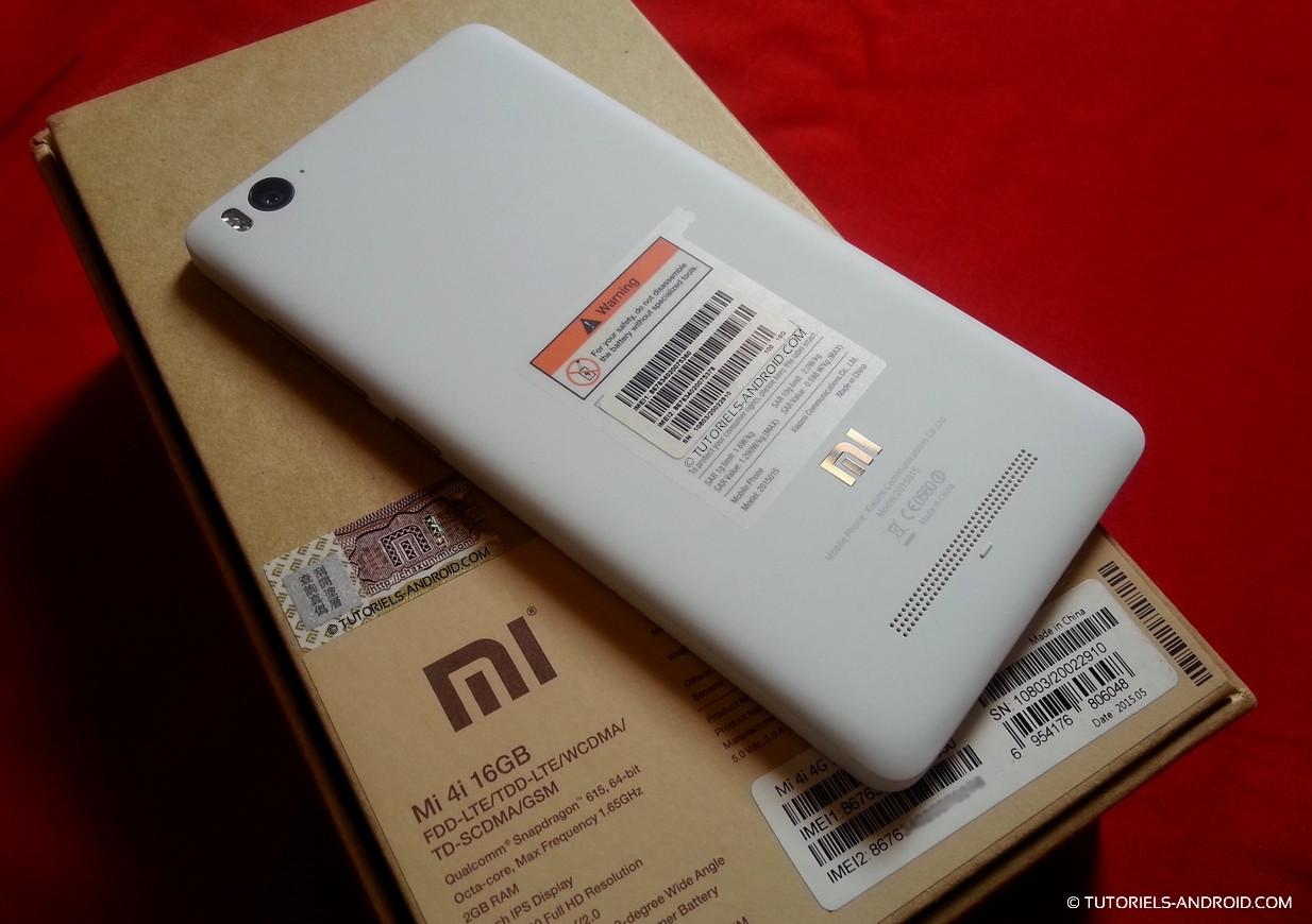 Xiaomi mi 4i back