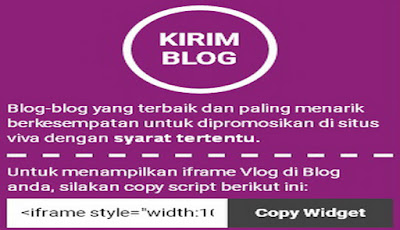 kirim blog,vivalog,trafik pengunjung