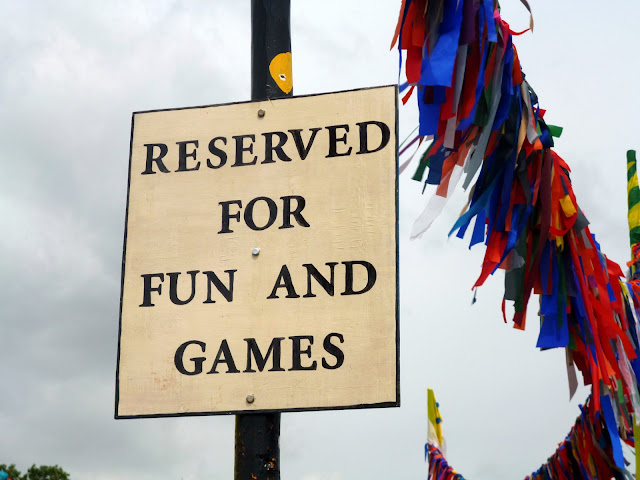 fun and games sign glastonbury festival 2013