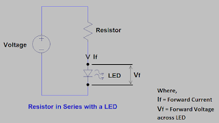 Resistor in series with LED