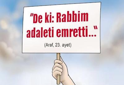 """""""De ki: Rabbim adaleti emretti..."""" (Araf Suresi 23), Kur'an, Ayet, döviz, gökyüzü"""