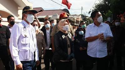 Walikota Manado GSVL, Terima Bantuan Bencana Banjir dari Mensos  Tri Rismaharini