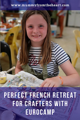 french crafting retreat with eurocamp pin