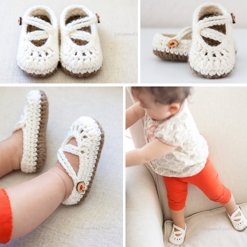 Double Strapped Baby Mary Janes - Free Pattern