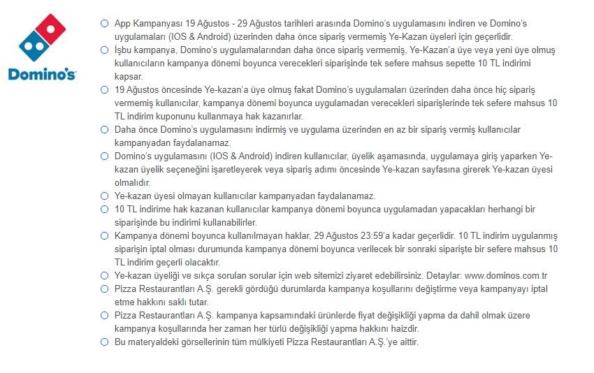dominos pizza ye kazan kampanyası promosyonu 2021