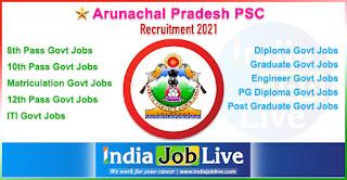 arunachal-pradesh-psc-recruitment-indiajoblive.com