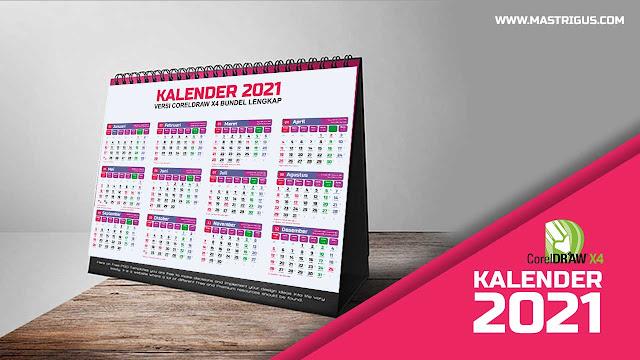 Desain Kalender 2021 CDR Lengkap Jawa Hijriyah Masehi