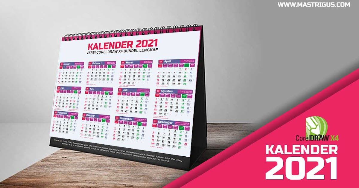 Download Desain Kalender 2021 Lengkap CDR : Jawa-Hijriah ...