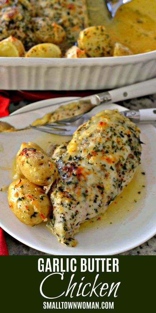 GARLIC BUTTER CHICKEN #maincourse #american #chicken #bake