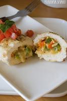 (Kurczak faszerowany mozzarellą i papryką