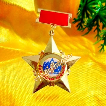 kỷ niệm chương sao 5 cánh,sản xuất huân huy chương đồng- huân chương kháng chiến cài áo