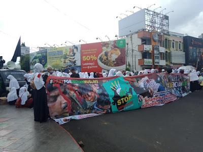 Ukhuwah Al-Fatah Rescue Lampung Gelar Aksi Damai Bela Muslim India