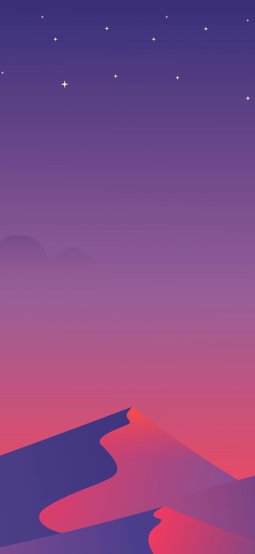 minimalist mountain mobile wallpaper