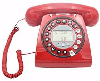 Telefone Retrô Vintage com Identificador