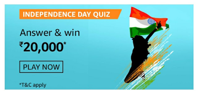 Independence Day Quiz answer and win rs 20000