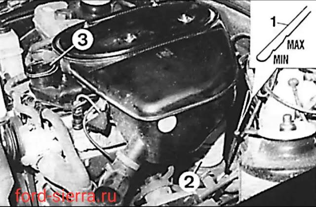 Проверка уровня масла в дизельных двигателях Ford sierra